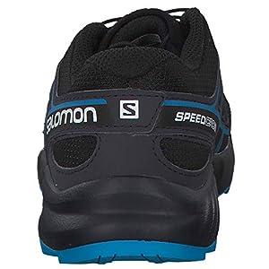 Salomon Kids' Speedcross J Trail Running Shoes, Black/Graphite/Hawaiian Surf, 7