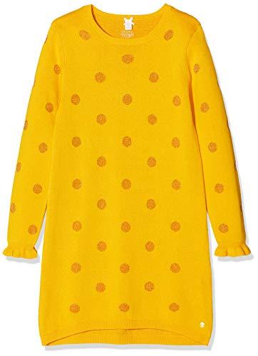 ESPRIT KIDS Mädchen RP3109309 Knit Dress Kleid, Gelb (Mustard 721), (Herstellergröße: 128+)