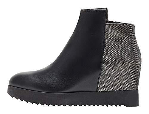 Poi Lei Damen-Schuhe Wedges Boots Grace Echtleder Glattleder Stiefeletten Keilabsatz - Handgefertigt in Europa