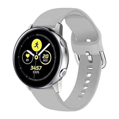 OLBLYING 2021 Nueva Correa de 20 / 22mm para Samsung Galaxy Watch 3 45mm 41mm Active 2 46mm 42mm Gear S3 Wamkband Pulsera para Huawei Smart Watch GT 2 Pro (Band Color : Gray 4, Band Width : 20mm L)