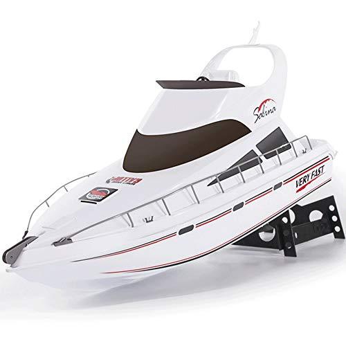 SSBH Barco de control remoto súper grande de 2.4GHz, yate de simulación de alta velocidad, bote de juguetes eléctricos infantiles, pesca de agua Nido Barco, caída y resistencia al choque, el mejor reg