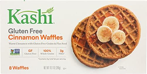 Kashi Frozen Waffles, Vegan and Gluten Free, Frozen Breakfast for Kids, Cinnamon, 10.1oz Box (8 Waffles)