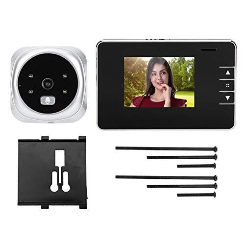 Jiawu Timbre con Video, cámara con Timbre Inteligente, Pantalla LCD TFT fácil de Instalar para Captura de imágenes HD Grabación de Video en el hogar