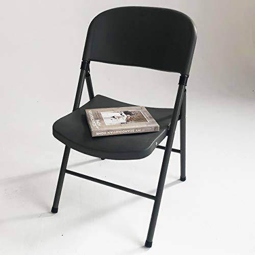 KLEE 4er Set Klappstuhl mit Stahlrahmen und Hochwertiger Kunststoff, 150 kg Tragkraft, Grau