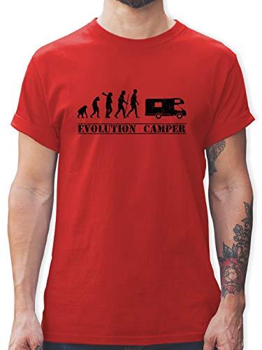 Evolution - Evolution Camper - M - Rot - L190 - Tshirt Herren und Männer T-Shirts