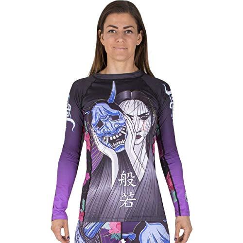 Tatami Meerkatsu Ladies Weeping Hannya Rashguard - Black-Purple - Large