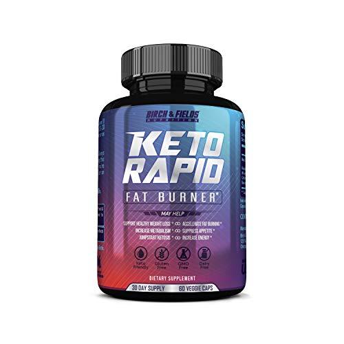 Birch and Fields Nutrition Keto Rapid Fat Burner. Thermogenic Fat Burner for Women & Men. Keto Diet Pills That Work Fast.
