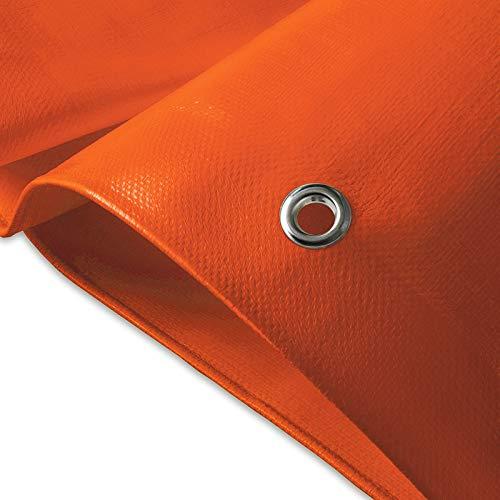 casa pura Toldo Exterior Reforzado - Lona Impermeable con Ojales -  Ultra Resistente   100% Waterproof   240g/m²   Muchos tamaños (Naranja, 2x3 m)
