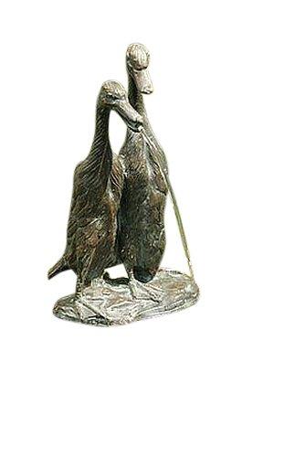 Laufenten, Wasserspeier aus Bronze