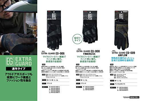 東和コーポレーションEXTRAGUARDEG-006Mサイズ《特殊ストレッチ生地で上質フィット感、新感覚の装着感》ブラック