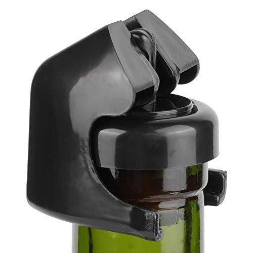 CHICIRIS Preserver Cork Eleganter Leichter Champagnerstopper, Weinkonservierer, Flaschenstopper Große Luftdichtheit für zu Hause(Black)