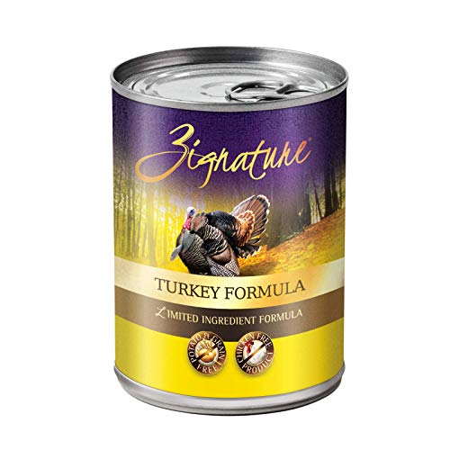 Zignature Grain Free Turkey Canned Dog Food 13Oz (12 Pack)