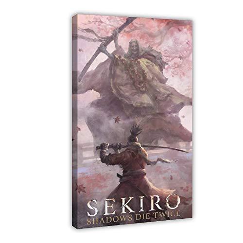 Game Sekiro Shadows Die Twice Wolf (4) Póster de lona para decoración de dormitorio, paisaje, oficina, habitación, marco de regalo, 40 x 60 cm
