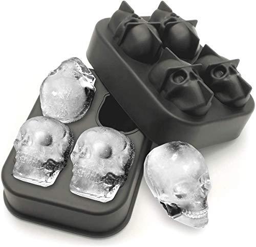 Inception Pro Infinite - Molde para hielo de silicona con 4 calaveras,...