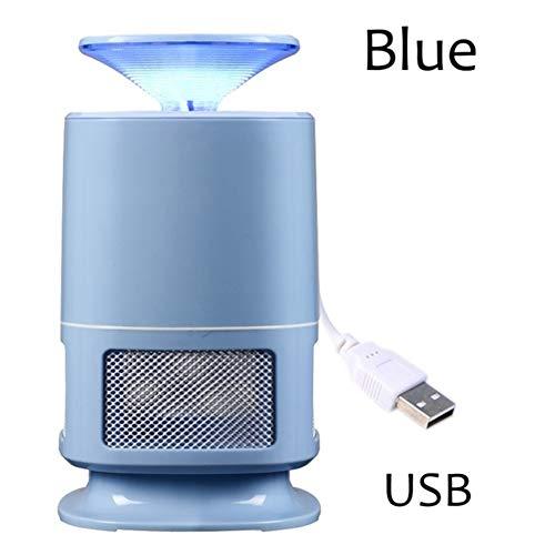 AIMCAE Lampe Anti-Moustique Piège à Insectes électronique Accueil Chambre Bébé Bébé Enceinte Enfants Aucun rayonnement LED Mosquito Killer USB Charge,Blue