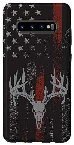 Galaxy S10+ American Flag Whitetail Deer Buck Hunting USA FLAG Hunter Case