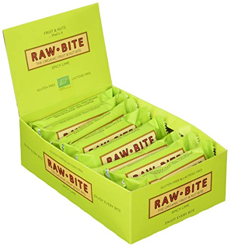 Raw Bite Rohkost Riegel Spicy Lime, 12er Pack (12 x 50 g)