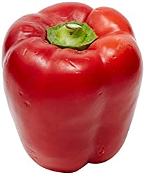 Amae Red Bell Pepper Capsicum, 2 Count