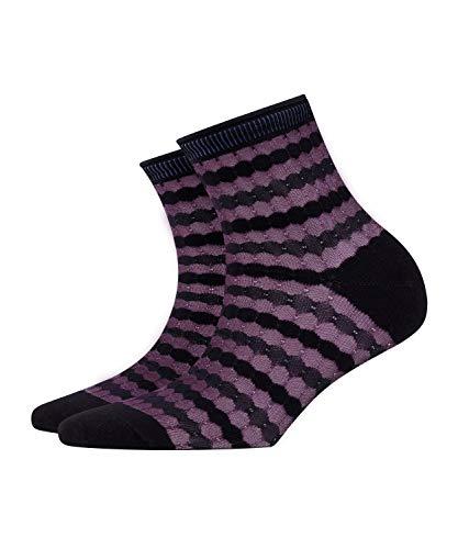 BURLINGTON Damen Socken Bubbly - Baumwollmischung, 1 Paar, Schwarz (Black 3000), Größe: 36-41