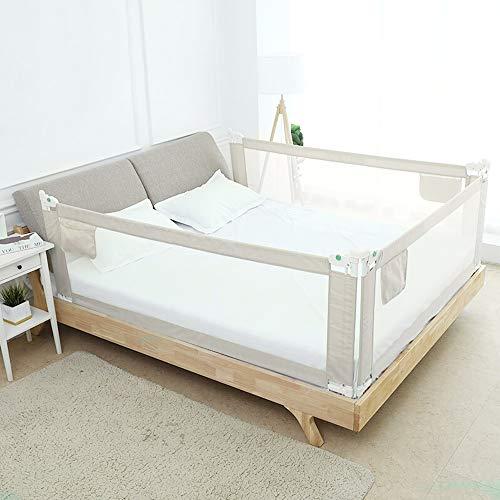 Trintion Baby Bettgitter Bettschutzgitter für Kinder 180x80cm Höhenverstellbar Kinderbettgitter Klappbar Fallschutz für Familienbett und Kinderbe