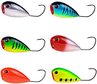 DOITPE Bass Lures Topwater Popper Fishing Lures Single Hook Fishing Bait with Treble Hooks Swimbait Lures for Bass Trout Walleye Pike Musky