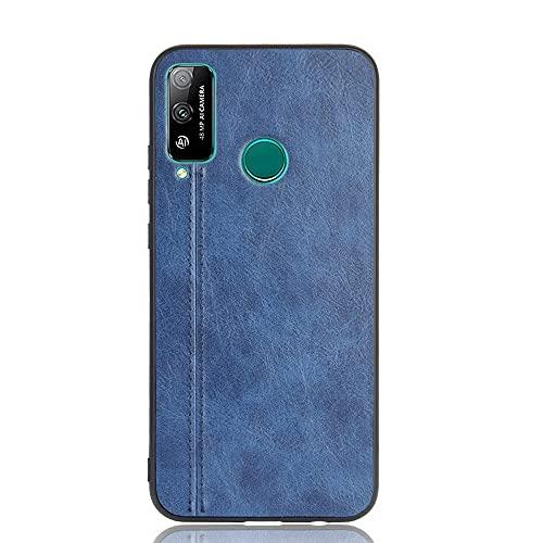 BEIJING  PROTECTIVECOVER+ / for Huawei Honor Play 4T Patrón de Vaca de Costura a Prueba de Golpes PC PC + Caso PU + TPU, Fashion Phone Funda para Protector (Color : Azul)