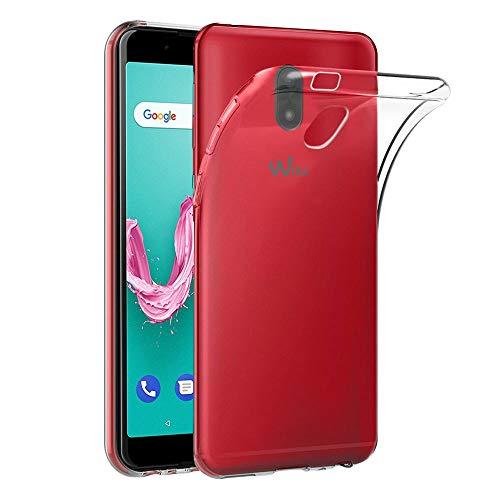 ebestStar - kompatibel mit Wiko Lenny 5 Hülle Handyhülle [Ultra Dünn], Premium Durchsichtige Klar TPU Schutzhülle, Soft Flex Silikon, Transparent [Phone: 153.5 x 74 x 9.2mm, 5.7'']