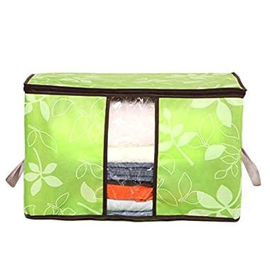 Storage Bag ,IEason Clearance Sale! Storage Organization/Designer Flower Printed Quilt Storage Bags (Green)