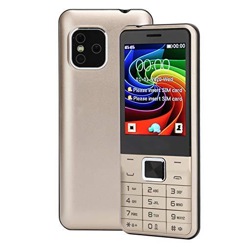 Teléfono móvil con botón para personas mayores,teléfono móvil con botón grande para personas mayores,doble tarjeta,doble modo de espera,teléfono móvil GSM para padres,32MB+32MB,batería de 2500mAh(EU)