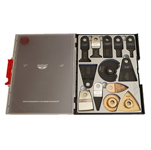 18 x TopsTools SW_RVK18 Mix-Klingen Koffer/Box Set Kompatibel mit Draper MT250A 23038, MT250 31328, Wickes 235510, Renovator Multifunktionswerkzeug Multifunktionswerkzeug-Zubehör