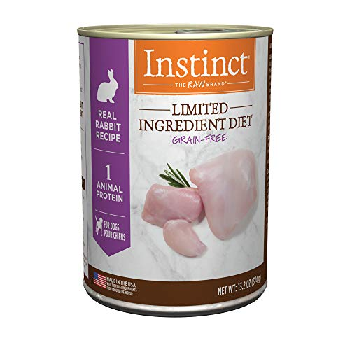 Instinct Limited Ingredient Diet Grain Free Real Rabbit Recipe Natural Wet Canned Dog Food by Nature's Variety, 13.2 oz. Cans (Case of 6)