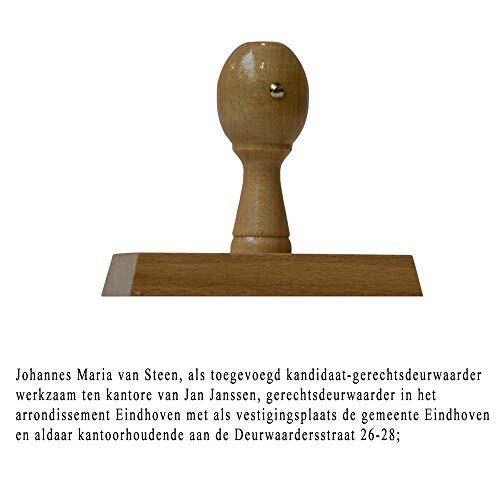 Houten Handstempel 100x20MM Deurwaarder | Stempel laten maken | Stempel maken | Met uw tekst en/of afbeelding | Stempelfabriek.nl