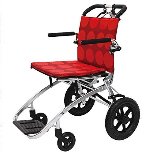 Daxiong Rollstuhl, der leichten Reise-untauglichen Roller-Karren-Flugzeug-Laufkatze-Alten Reise-Import-Aluminiumrollstuhl faltet,80 * 61.5 * 89cm