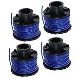 Spares2go, filo e bobina da 10 m, compatibile con tagliabordi Black & Decker (confezione da 4)