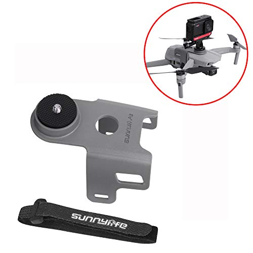 GEEMEE Multifunction Holder Camera Light Mount Bracket for DJI Mavic AIR 2 Camera Support Holder with 1/4 Interface Screw Adapter Mount for GoPro Hero 8 / DJI OSMO Action / Insta360 One X Camera