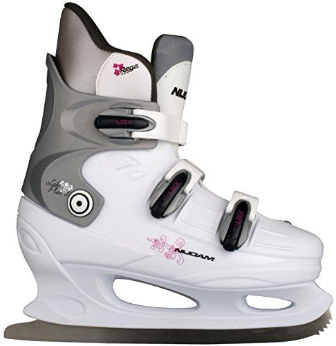 Nijdam Damen Schlittschuhe Eiskunstlauf, Mehrfarbig (Weiß), 42, 1012160