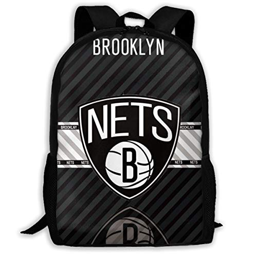 Vf Brooklyn Nets Backpack, Outdoor Classical Travel Backpack,Laptop Backpack For Adult, Team Backpacks For Fans