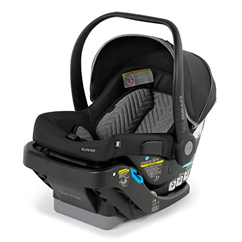 Summer Affirm 335 Rear-Facing Infant Car Seat, Onyx Black – Including Easy-to-Install Steeloc Car Seat Base