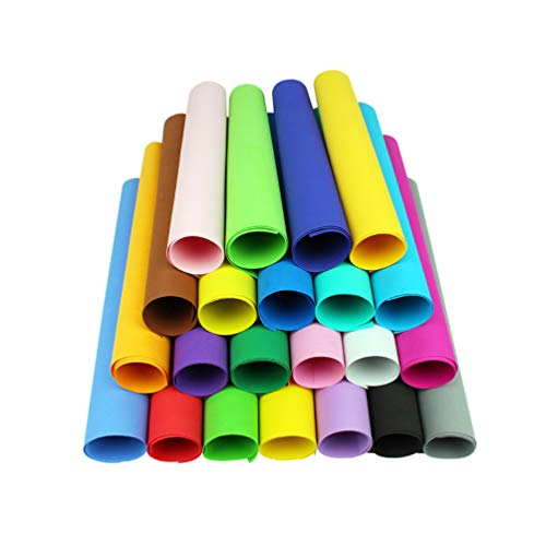 Healifty 10 Stück Schaumstoffplatten buntes Bastelschaum Papier zum Basteln Scrapbooking 50 x 50cm