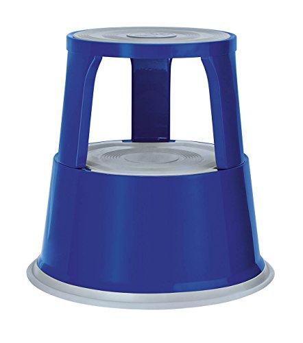 Wedo 212103 Rollhocker Metall, TÜV- und GS-geprüft, Höhe 43 cm, Tragkraft 150 kg, blau