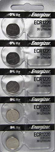Energizer CR1220 Low Drain 3V lithuim Battery (pack of 5)