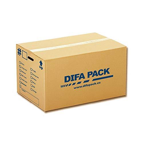 10 Cajas de cartón para mudanzas con asas - 500 x 350...