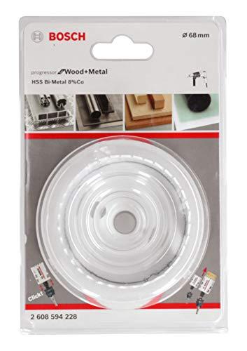 Bosch Professional Lochsäge Progressor for Wood & Metal (Holz und Metall, Ø 68 mm, Zubehör Bohrmaschine)