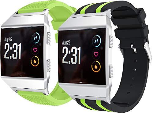 Correa de Reloj de Silicona Suave Compatible con Fitbit Ionic, Repuesto Ideal (2PCS E)