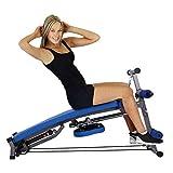 SobeiKre Hydraulic Rowing Machine Foldable Beauty Waist Supine Board Sit Up Bench Push Ups Fitness Equipment Padded Seat...