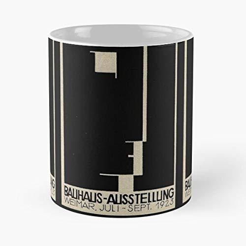 Bauhaus German Germany 1923 Design Weimar Vintage Logo Best 11 Ounce Ceramic Coffee Mug Best 11 oz Kaffeebecher - Nespresso Tassen Kaffee Motive !