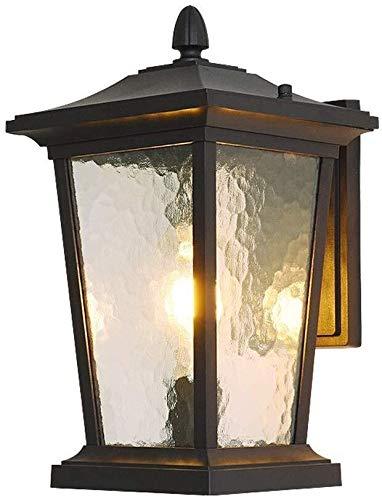 Wandverlichting eenvoudig antiek metaal wandlamp outdoor balkon aluminium trap terras retro villa plafondlamp ijzer + glas 37 x 25 cm wandverlichting