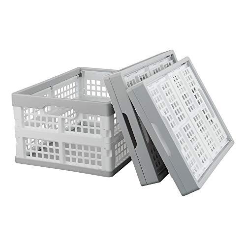 Kiddream - Juego de 3 cubos de almacenamiento plegables, 15 litros de plástico apilables