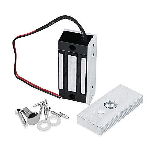 GXY 60KG 132lbs Cerradura electromagnética Control de acceso Cerradura magnética electrónica DC12V Fail Safe NC Mini Cerradura de puerta pequeña para sistema de seguridad eléctrico