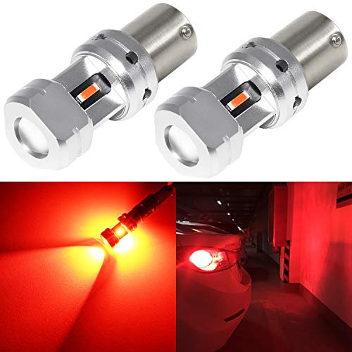 Phinlion 1156 LED Red Brake Light Bulb Super Bright 3497 1156 7506 LED Bulbs for Car Truck RV Motorcycle Tail Stop Turn Signal Blinker Lights
